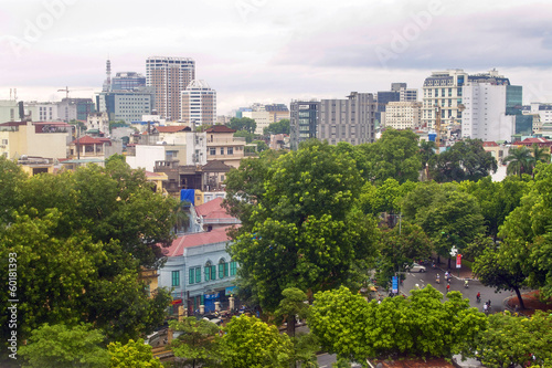 Aerial view of Hanoi, capital of Vietnam