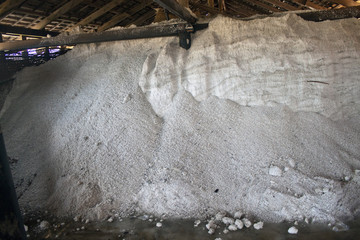 Storage of a salt near Kampot, Cambodia