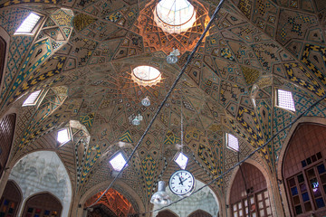 Ceiling of main bazaar in Tehran, Iran
