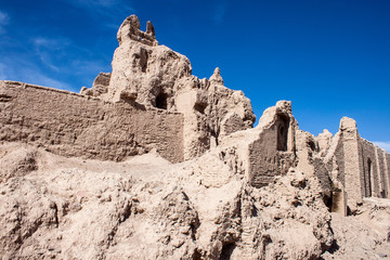 The Castle of Narenj in desert town Naein in Iran