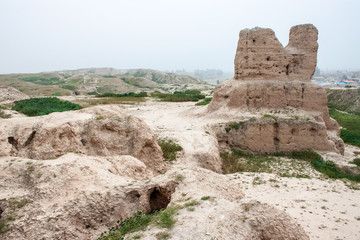 Ruins of ancient Achaemenid palace in Sush (Susa), Iran