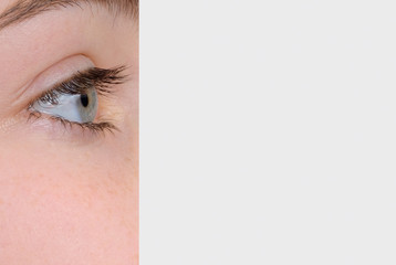 Eye Dominating Photo of Woman's Face