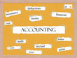 Accounting Corkboard Word Concept
