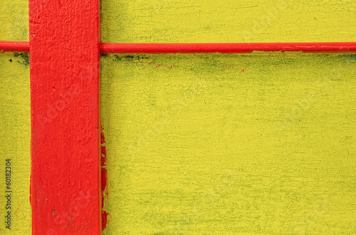 Red and Yellow Painted Wall