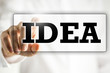 The word Idea on a virtual interface