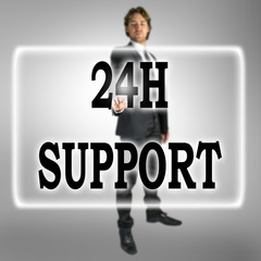 24h Support text on a virtual interface