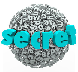 Secret Word Sphere Ball Confidential Secretive Information
