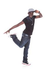 Happy Young Man Dancing