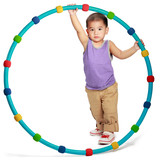 Little asian boy with hula hoop