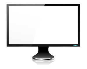 LCD Computer Monitor Screen in Black
