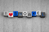 I Love To Snorkel, sign series for snorkelling and spearfishing