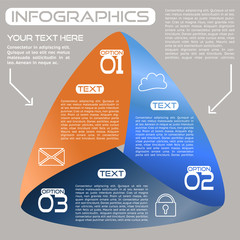Infographics Options Infinite Ribbon Bright Three Choices