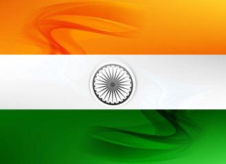 republic day beautiful indian flag tricolor art vector design