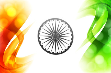 vector indian flag beautiful wave tricolor background illustrati