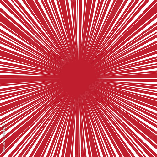 Radial speed on red, bubble comic speech, vector format