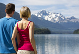 Couple at Duffey Lake in BC, Canada