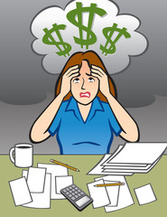 Woman with Money Problems
