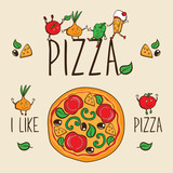 pizza background for pizzeria
