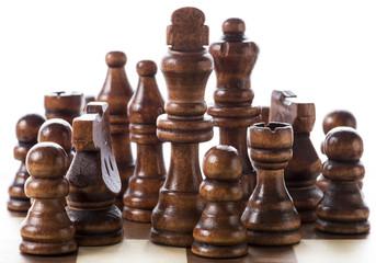 チェス盤のアップ