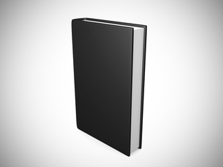 front view of Blank book cover black