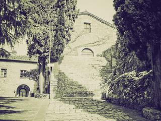 Vintage sepia Rocca di Castiglione Orcia, Italy
