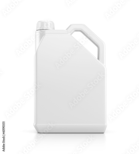 Plastic canister isolated on white