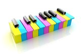 Colorfull piano keys