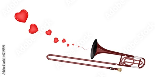 A Symphonic Trombone Blowing A Lovely Heart
