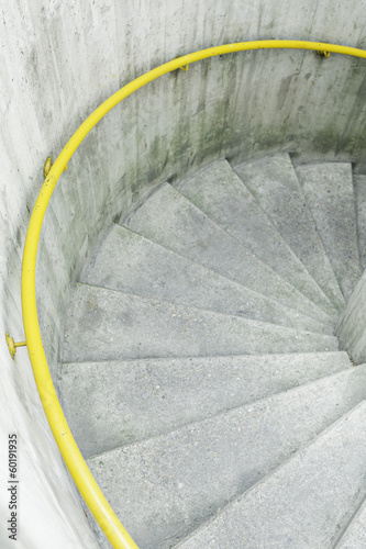 Outdoor cement staircase