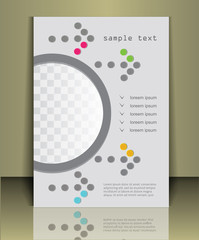 Arrow background brochure cover template