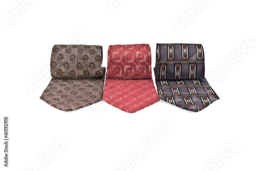 Three varicolored neckties