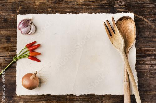 Fotobehang Koken ricettario