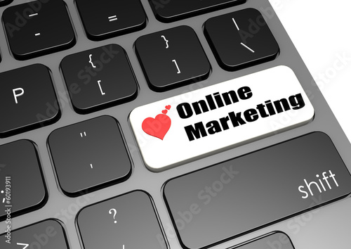 Online marketing keyboard