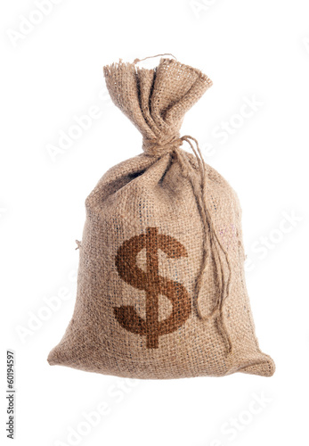 Bag filled with money