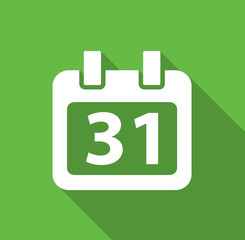 Calendar - Flat icon for web and mobile apps