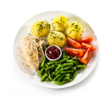 Roasted chicken fillet and vegetables