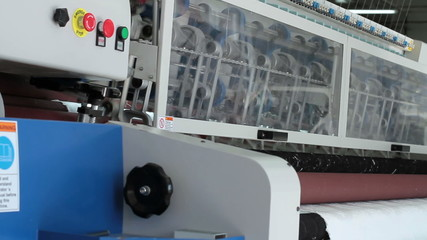 Sewing machine in the shop