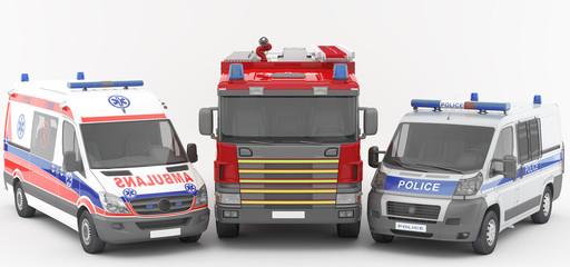 Ambulancia - Policía - Bomberos