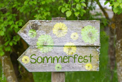 Sommerfest Wegweiser