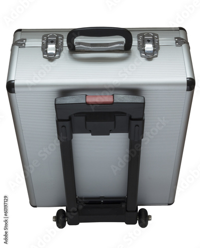 Metallic suitcase