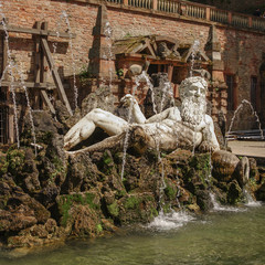 Statue of Neptune in the Heidelberger Castle, Heidelberg, German