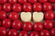 Valentine's Day background,red candies