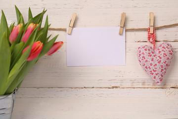 Papier mit Herz