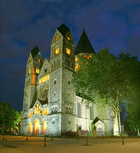 Temple Neuf de Metz at night - Lorraine, France