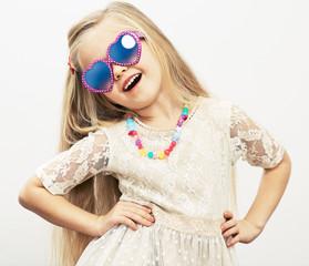 Fashion style girl studio portrait.