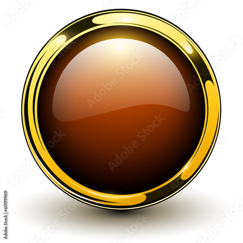 Gold button shiny metallic