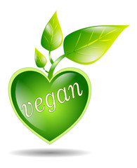 vegan symbol isolated