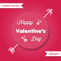Happy Valentine's Day in pink