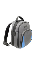 Blue and grey rucksack
