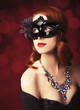 Beautiful women in carnival mask